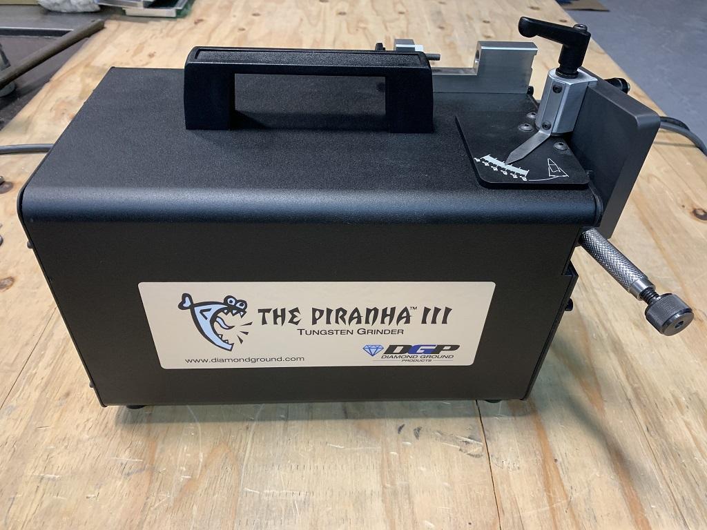 専用のタングステン電極研磨機