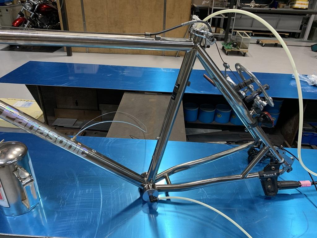 チタン製自転車部品の修理