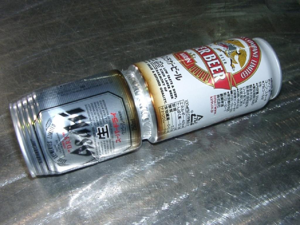 アルミ缶の溶接写真1