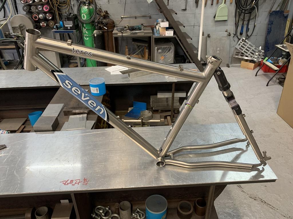 自転車チタンフレーム修理2021/3